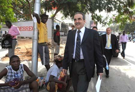 Guillermo Moreno en Angola